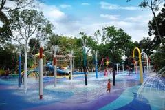 Terrain de jeux humide de Kidzworldâs de forêt humide Image libre de droits