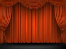 Terrain de théâtre préparé avec le rouge Photographie stock