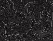 Terrain map. Topographic contouring line cartography texture. Topographical relief map. Geographic vector background royalty free illustration