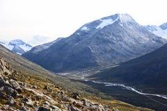 Terrain montagneux en Norvège Stationnement national de Jotunheimen photo stock