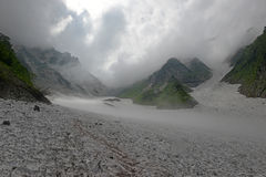 Terrain on Mount Shirouma in the Japan Alps. Terrain on Mount Shirouma in the Northern Alps in Japan, a popular mountains for Japanese hikers and climbers Royalty Free Stock Photography