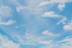 Clouds gather densely in the hot sun before the rain shifts to quench the heat. Terrain of the sky every day with clouds alternating back and forth royalty free stock photo