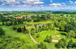 Terrain of the Strasbourg Golf Club - France. Terrain of the Strasbourg Golf Club - Bas-Rhin, France Stock Image