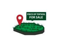 Terrain végétal à vendre Photos stock