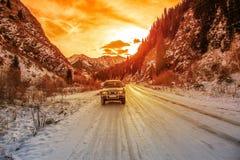 Terrain vehicle mountains Stock Photo