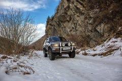Terrain vehicle mountains Royalty Free Stock Image