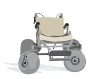 Terrain wheelchair Royalty Free Stock Photography