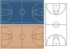 Terrains de basket illustration de vecteur
