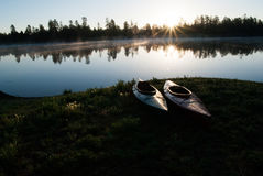 Terrains de camping de lac horse blanc, Williams, AZ Photo stock