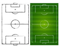 Terrains de football illustration de vecteur