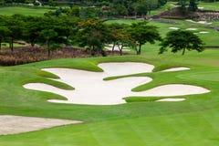 Terrains de golf Photos libres de droits