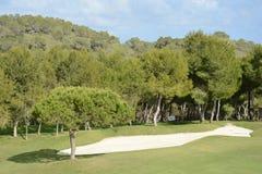 Terrains de golf dans la côte d'Orihuela photo stock