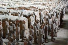 Terrakotta-Armee Xi'an Shaanxi-Provinz China Lizenzfreie Stockfotos