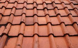 Terrakotta-Dach-Fliesen in Jakarta Indonesien Lizenzfreie Stockfotografie