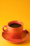 terrakotta för kaffekopp Fotografering för Bildbyråer