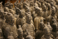 Terrakotta-Krieger-Armee Stockfotografie