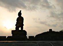 Terrakotta-Krieger und die Chinesische Mauer Stockfoto