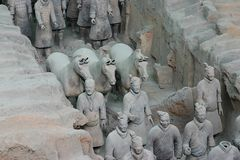 Terrakotta-Krieger - Xian Lizenzfreie Stockfotografie
