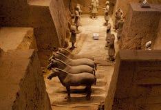 Terrakotta-Kriegers-Armee des Kaisers Qin Shi Huang Di Lizenzfreie Stockfotografie