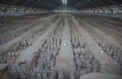 Terrakottaarmé i Xi'an, Kina Royaltyfri Bild