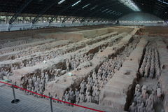 Terrakottaarmé, Xian China Arkivfoton