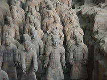 Terrakottaarmékrigare i Xian China Arkivfoton