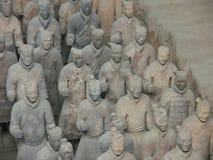 Terrakottaarmékrigare i Xian China Royaltyfri Fotografi