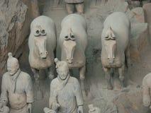 Terrakottaarmékrigare i Xian China Royaltyfri Foto
