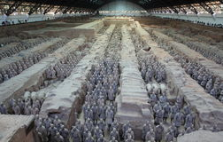 Terrakottaarmén av Xian Arkivbild