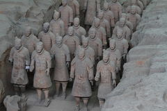 Terrakottaarmén av Xian Arkivfoton