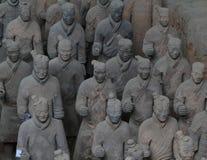 Terrakottaarmén av Xian Arkivbilder