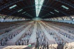 Terrakottaarmee in der Halle, Xian China Lizenzfreie Stockfotografie