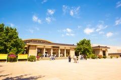 Terrakottakrieger und -pferdeemper Qins museum Stockfotografie