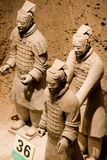 Terrakottakrieger von Qin Stockbild