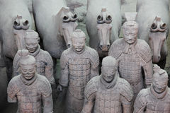 Terrakottakrieger - XiAn, China Lizenzfreie Stockfotos