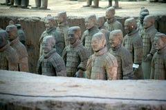 Terrakottakrieger, Xian (China) Stockfotografie