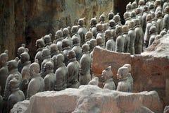 Terrakottakrigare i Xi'an Arkivfoto
