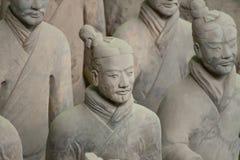 Terrakottakrigare i Xi'an, Kina Arkivbild