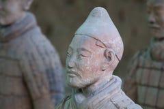 Terrakottakrigare i Xi'an, Kina Royaltyfri Bild