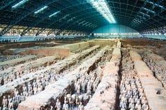 Terrakottakrigare i Xian, Kina Royaltyfria Bilder