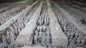 Terrakottakrigare i Xian, Kina Arkivbilder