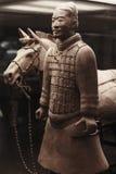 Terrakottakrigare med hästen, Kina Royaltyfri Foto