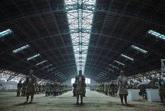 Terrakottakrigare och hästar Royaltyfria Foton