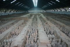 terrakottakrigare x xian Arkivbild