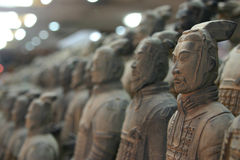 terrakottakrigare xian Royaltyfri Fotografi