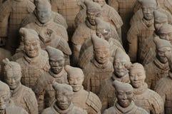 Terrakottakrigare - Xian - Kina Royaltyfria Foton