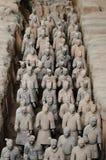 Terrakottakrigare - Xian - Kina Arkivfoto