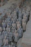 Terrakottakrigarearmé av kejsaren Qin Shi Huang Di Arkivfoto