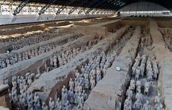 Terrakottakrigarearmé av kejsaren Qin Shi Huang Di Arkivfoton