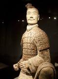 Terrakottakrigarearmé av kejsaren Qin Shi Huang Di Arkivbild